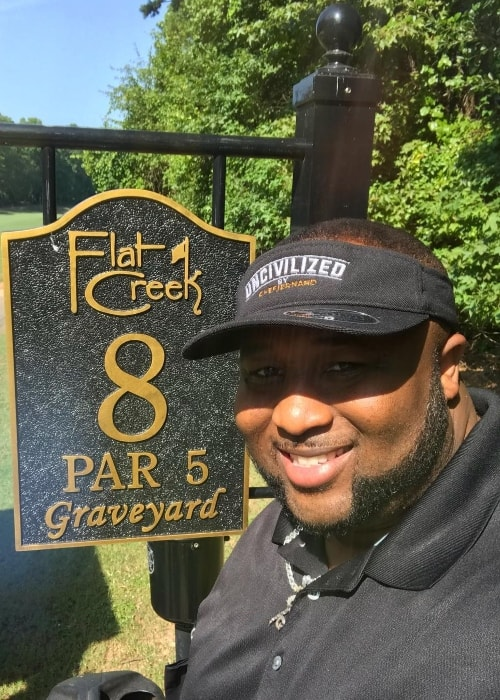 Jernard Wells at the Flatcreek Country Club in July 2018