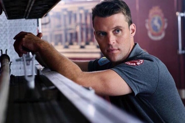 Jesse Spencer in a still from the show 'Chicago Fire'