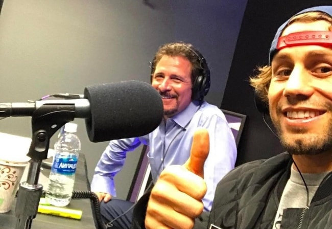 Jim Rome (Left) with Urijah Faber in January 2017