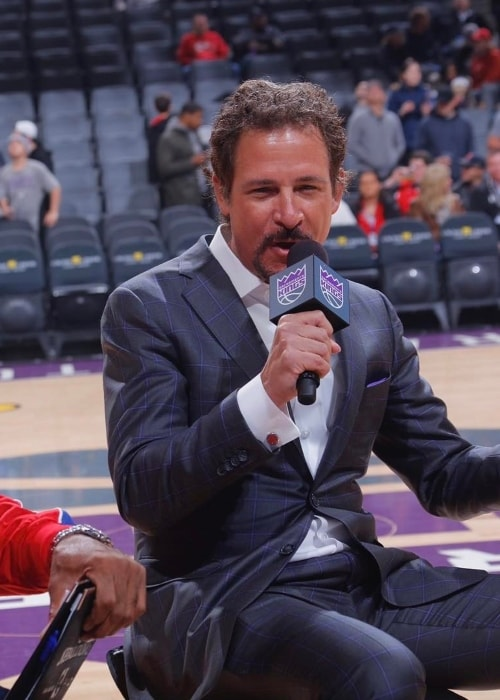 Jim Rome before a game in January 2017
