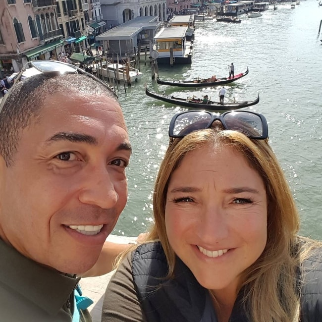 Jo Frost in a selfie with Darrin Jackson in Venice in September 2017