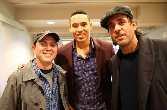 Joe Lo Truglio (Left) with Carlos Correa and Bobby Cannavale (Right) seen in October 2015