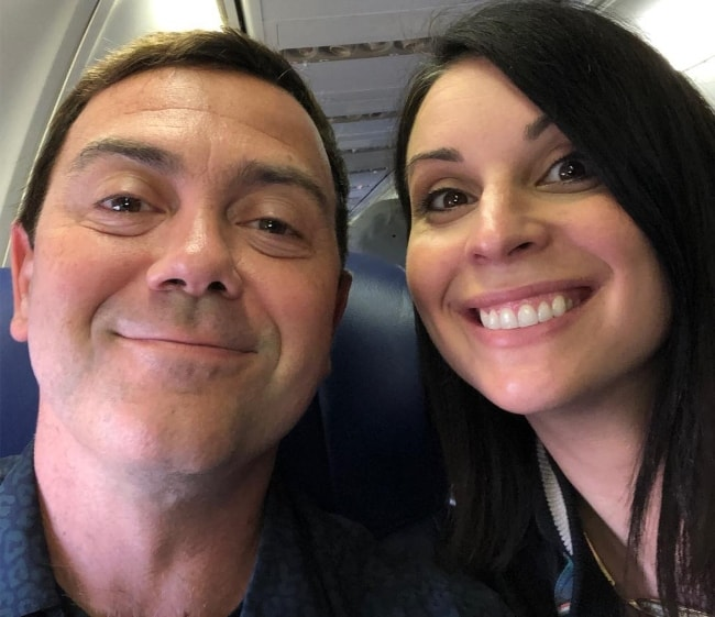 Joe Lo Truglio with wife Beth Dover on their way to Big Slick KC in June 2018
