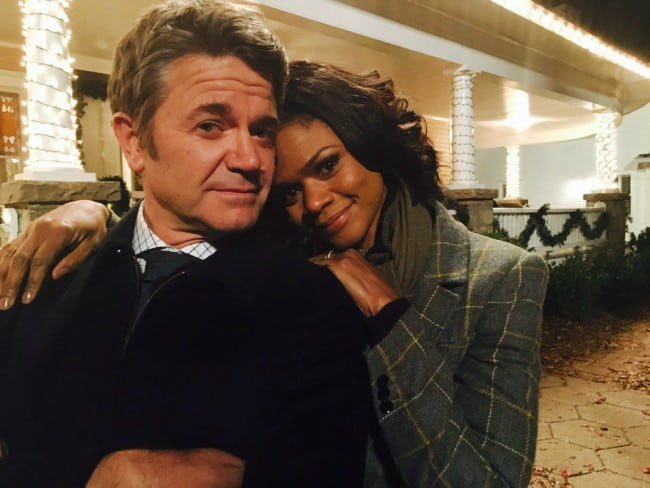 John Michael Higgins and Kimberly Elise as seen in December 2015