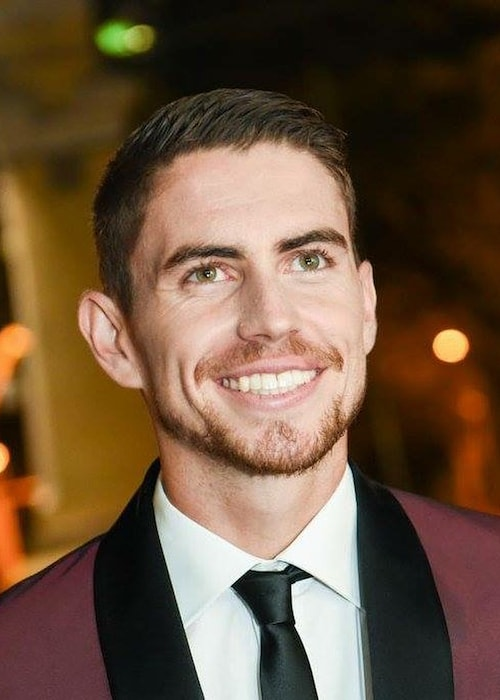 Jorginho all smiles as he heads towards the church during his own marriage with Natalie