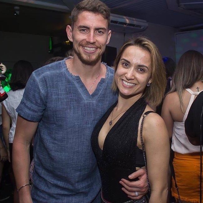 Jorginho with his love Natalie on Valentine's Day in 2018