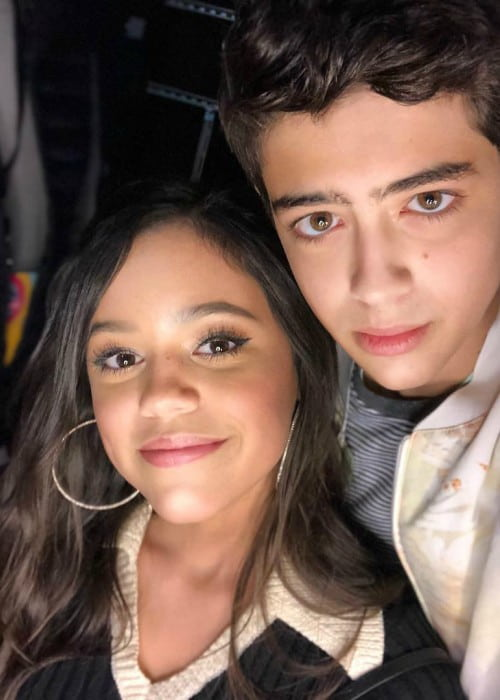 Joshua Rush and Jenna Ortega as seen in June 2018