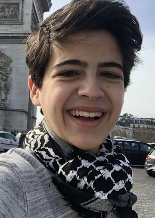 Joshua Rush in a selfie in April 2018