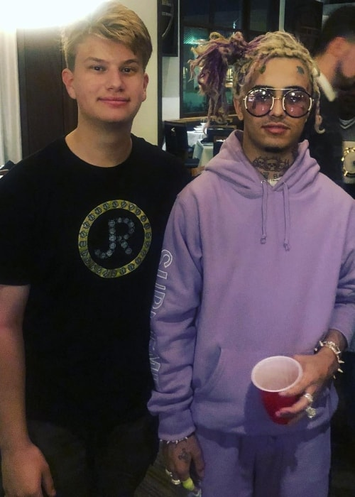 Justin Roberts (Left) with Lil' Pump in May 2018