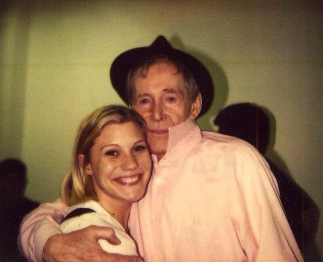 Katee Sackhoff in a picture with the late actor, Peter O'Toole
