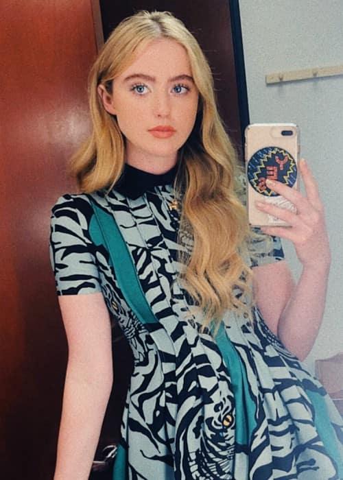 Kathryn Newton in a selfie in July 2018