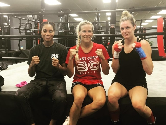 Katlyn Chookagian with Taneisha Tennant (Left) and Sarah Thomas (Right) in August 2018