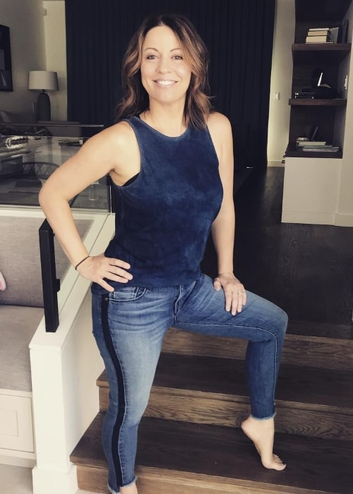 Kay Cannon in her denis for the Denim Day in April 2018