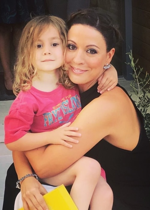 Kay Cannon with her daughter in April 2018