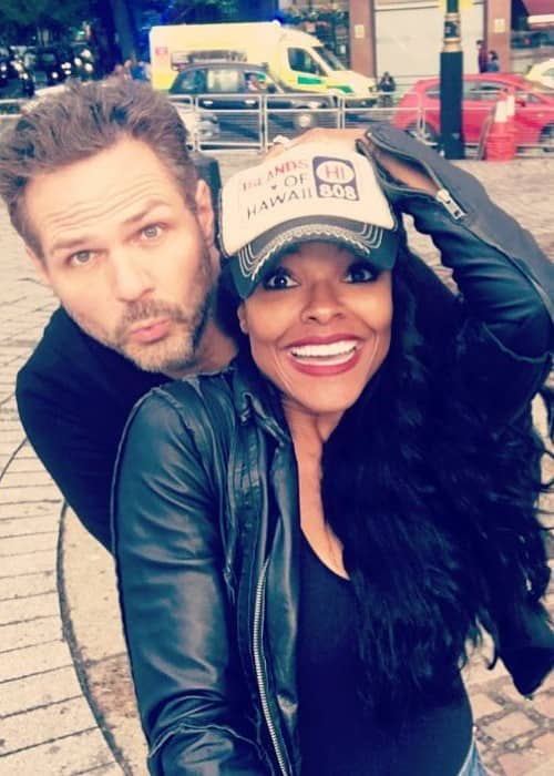 Keesha Sharp and Bradford Sharp as seen in November 2017