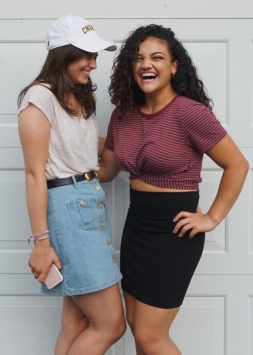 Laurie Hernandez with her friend in June 2018