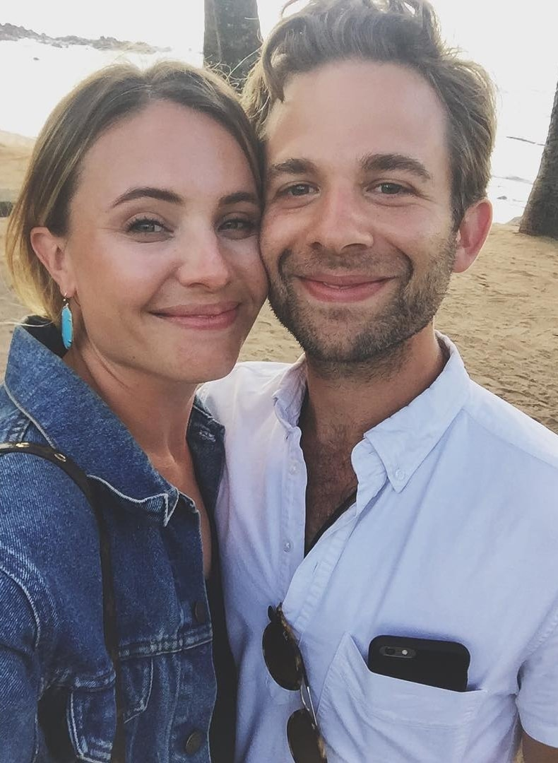 Leah Pipes with A.J. Trauth at Muai, Hawaii in June 2016