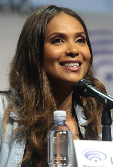 Lesley-Ann Brandt as seen at the 2017 WonderCon in Anaheim, California