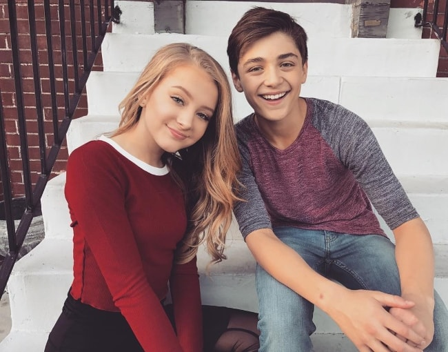 Lexi Drew with Asher Angel in October 2017