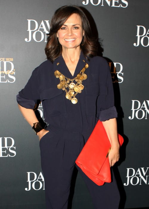 Lisa Wilkinson at David Jones AW13 Fashion Launch in February 2013
