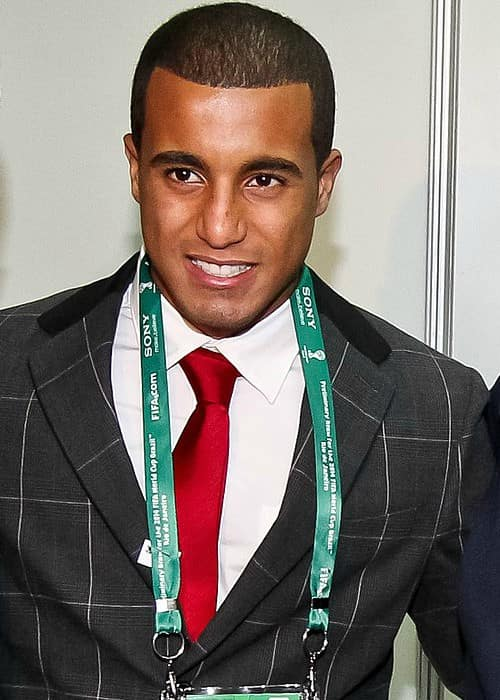 Lucas Moura after the preliminary drawing ceremony of the World Cup in August 2011