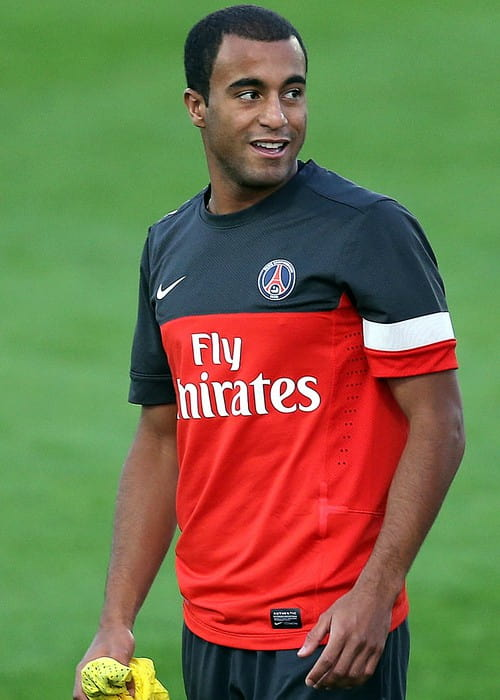 Lucas Moura during a training session in January 2013