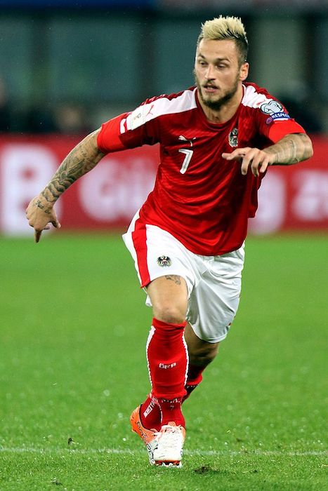 Marko Arnautovic during a 2018 FIFA World Cup qualification match between Austria and Wales in 2016