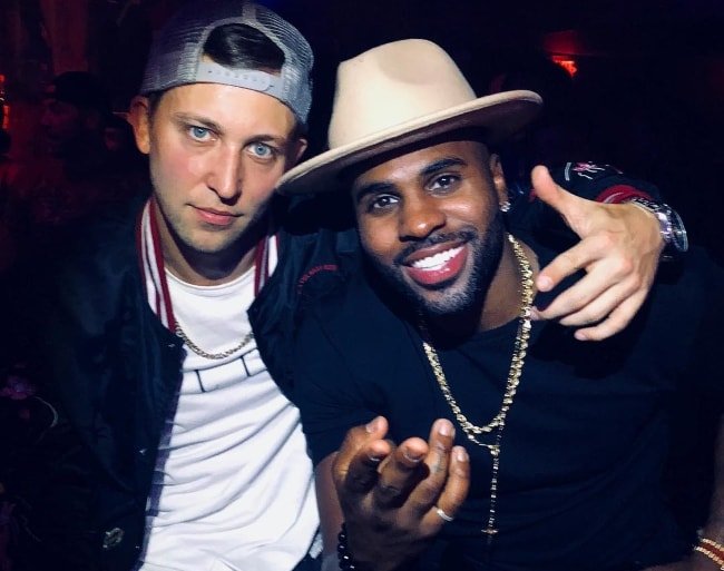 Matt Steffanina (Left) with Jason Derulo in Miami, Florida in May 2018