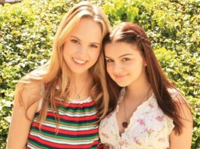 Meaghan Martin (Left) with Ariel Winter in May 2015