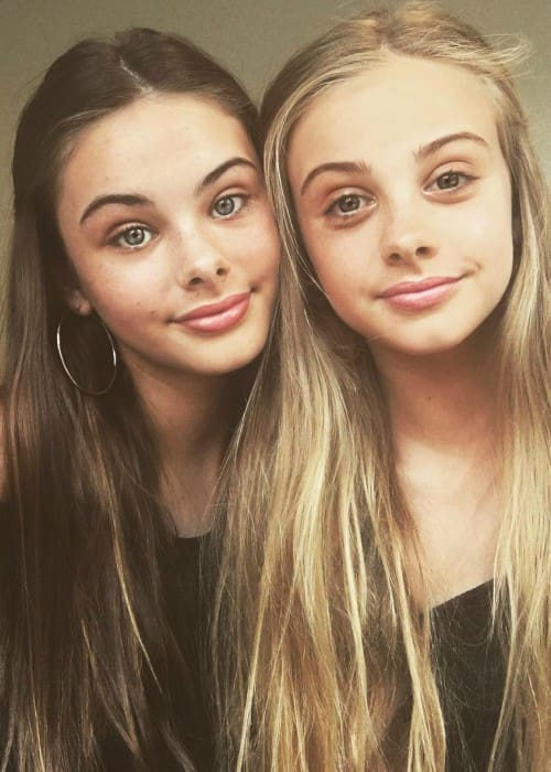 Meika Woollard (Left) and India Woollard as seen in September 2017