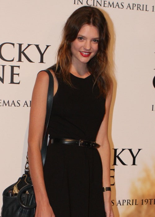 Montana Cox at The Lucky One World Premiere in April 2012