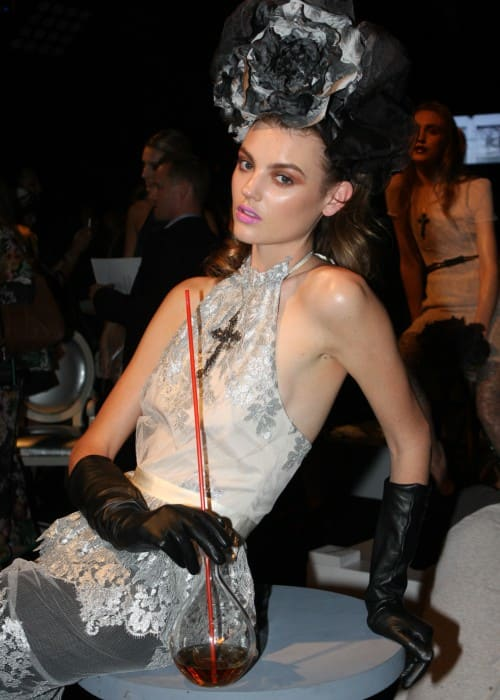Montana Cox during the Mercedes-Benz Fashion Week in May 2012