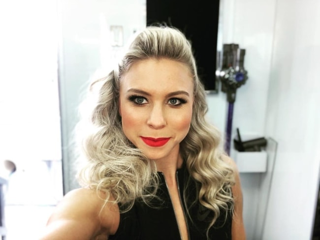 Morgan Larson in a selfie before performing on the show 'Dancing with the Stars' in May 2018