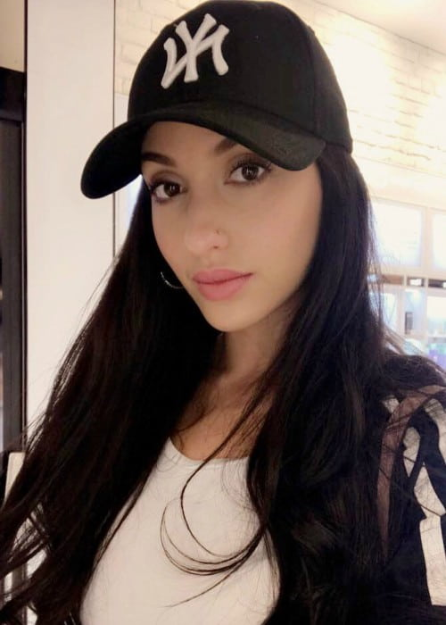 Nora Fatehi in a selfie in June 2017