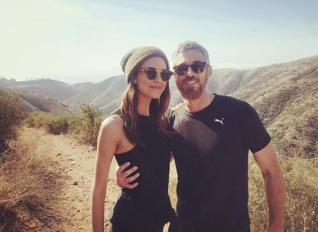 Odette Annable with Dave Annable in January 2018