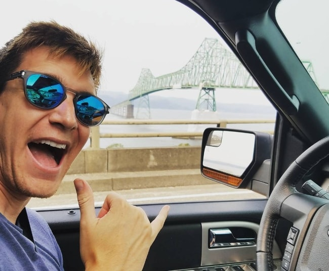 Oliver Phelps enjoying a drive at Port of Astoria in September 2017