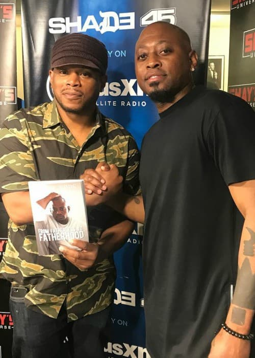 Omar Epps (Right) and Sway Calloway as seen in June 2018