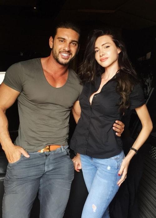 Otilia with singer Dorian Popa