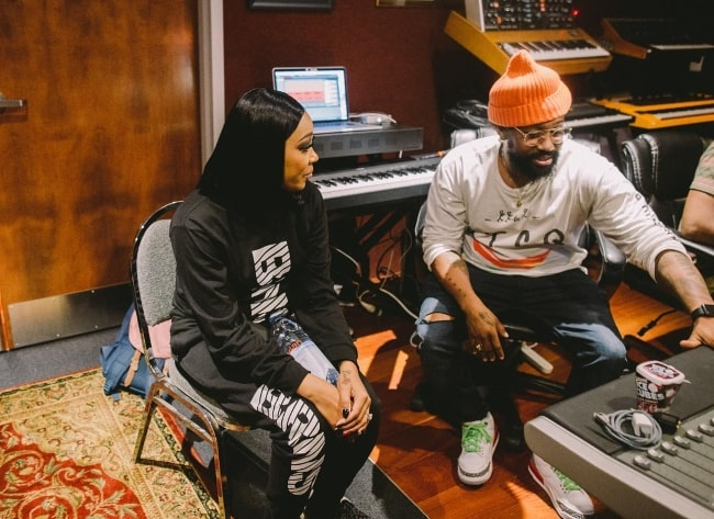 PJ Morton with Monica Brown in New Orleans, Louisiana in August 2018
