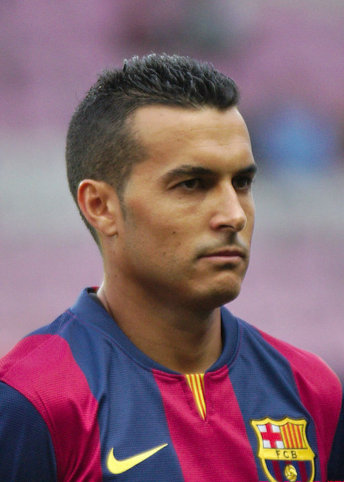Pedro Rodriguez while representing Barcelona in a match against Napoli in 2014