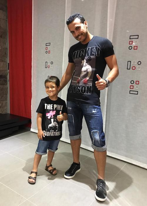 Pedro with his 5 year old son Bryan in April 2018