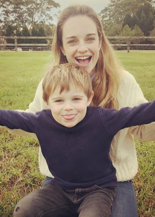 Penny McNamee with her son as seen in June 2018