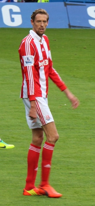 Peter Crouch during a match in April 2014