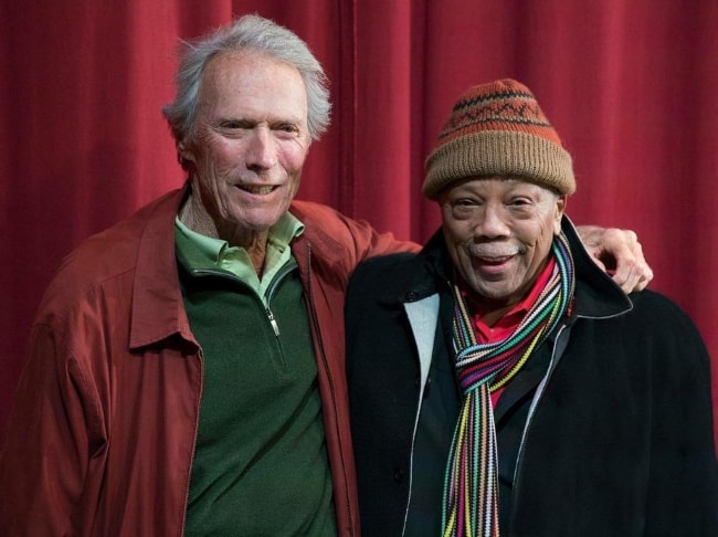 Quincy Jones (Right) with Clint Eastwood