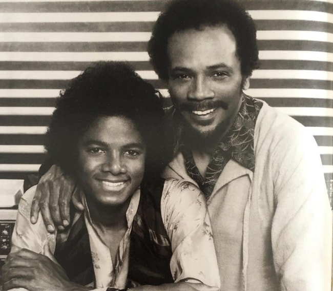 Quincy Jones (Right) with Michael Jackson