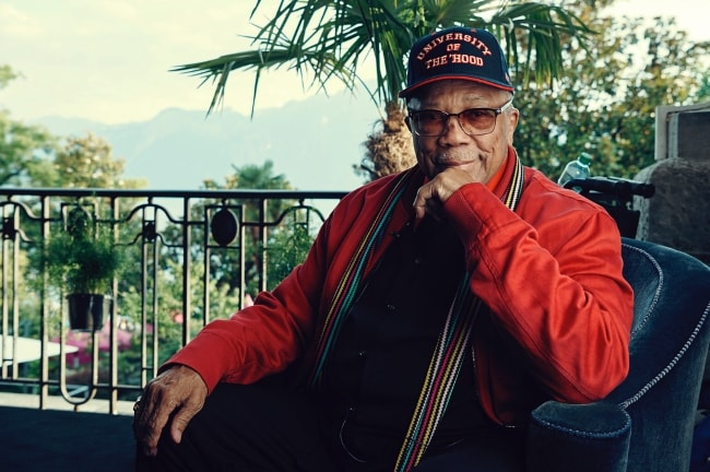 Quincy Jones pictured while at the Montreux Jazz Festival in July 2018