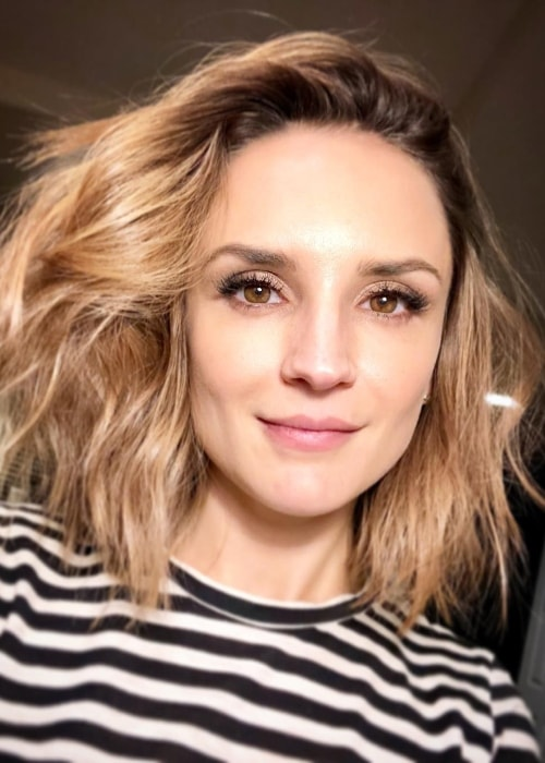 Rachael Leigh Cook in a selfie after getting her hair done in March 2018
