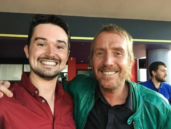 Rhys Ifans as seen with James Button at Cineworld Cardiff 4DX & Superscreen in September 2017