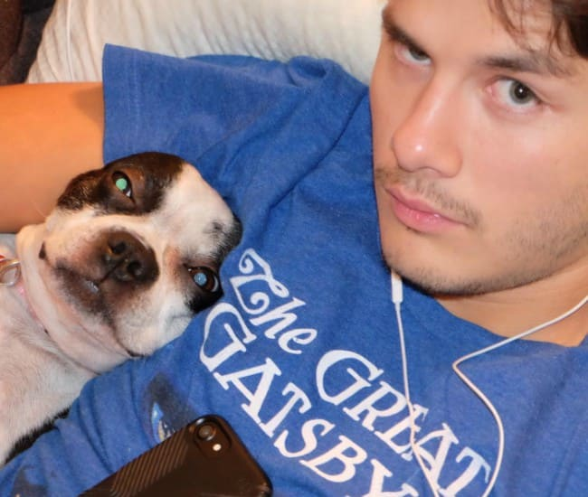Ricardo Hoyos in a selfie with his dog as seen in November 2016