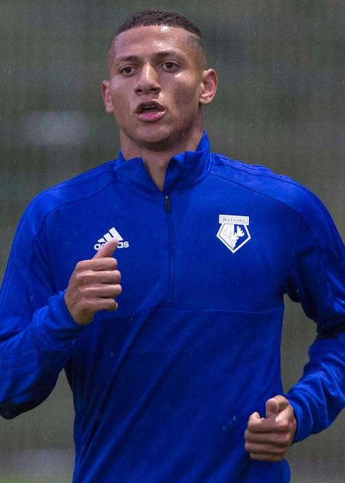 Richarlison during a practice session in 2018